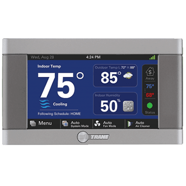 Trane XL824 connected controls.