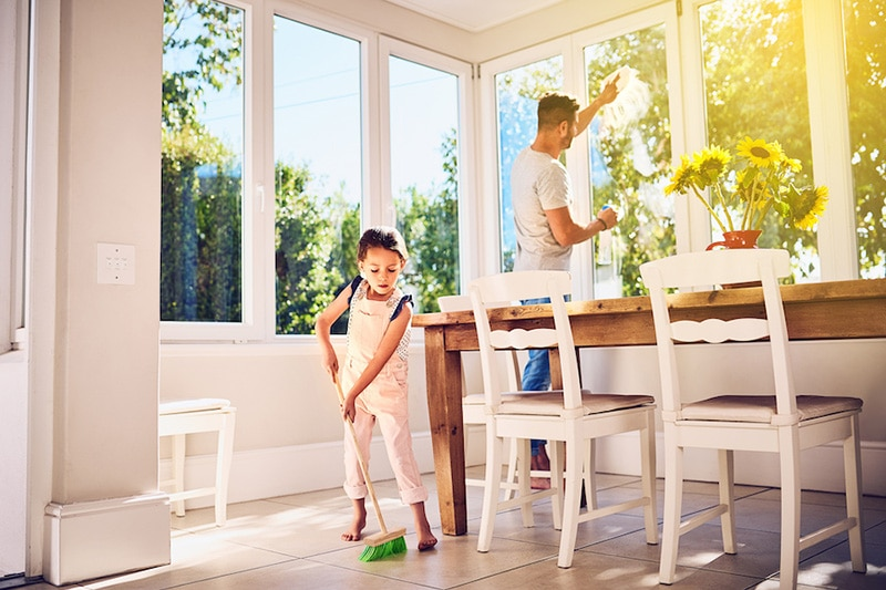 How environmental issues can affect your ac, kid cleaning with dad, How Environmental Issues Can Affect Your AC | The Dalles, WA
